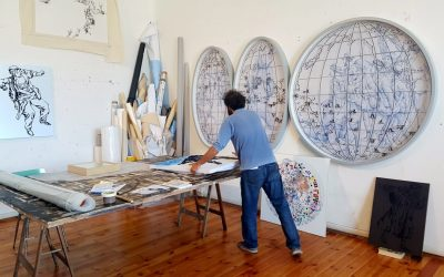 """Pietro Ruffo è l'artista sulla copertina del libro """"Il XXI Secolo dell'Immigrazione"""" di Edicusano."""
