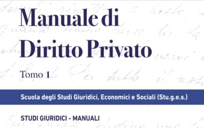 Introduzione al Manuale di Diritto Privato a cura del Prof. Bruno Cucchi.