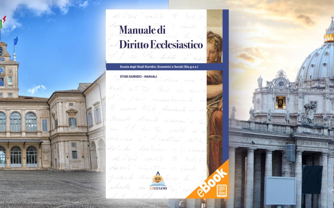 Manuale di Diritto Ecclesiastico: Prefazione a cura del Prof. Bruno Cucchi.